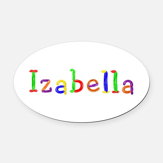 Izabella Balloons Oval Car Magnet