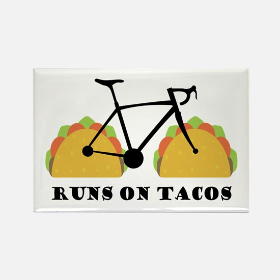 Funny Cyclists Rectangle Magnet