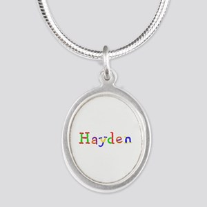 Hayden Balloons Silver Oval Necklace