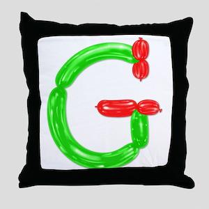 G Balloons Throw Pillow