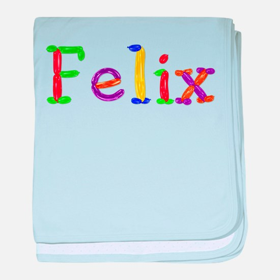 Felix Balloons baby blanket