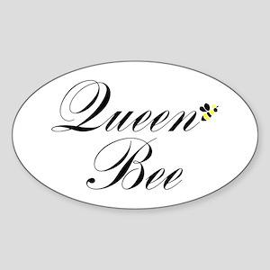 Queen Bee Oval Sticker