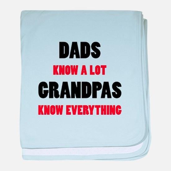 Grandpas Know Everything baby blanket