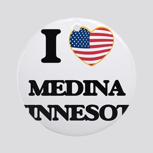 I love Medina Minnesota Ornament (Round)