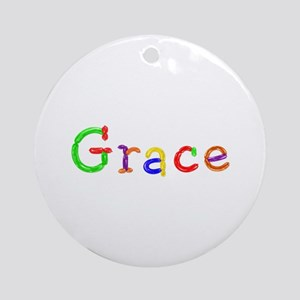 Grace Balloons Round Ornament