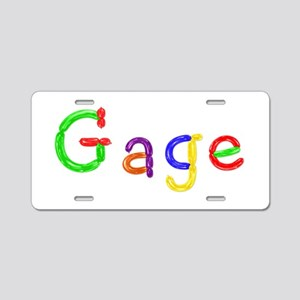 Gage Balloons Aluminum License Plate