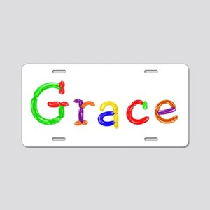 Grace Balloons Aluminum License Plate