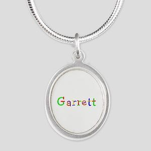 Garrett Balloons Silver Oval Necklace