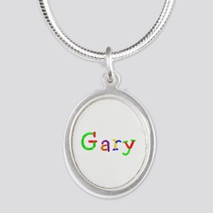 Gary Balloons Silver Oval Necklace