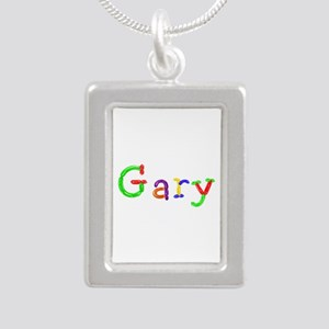 Gary Balloons Silver Portrait Necklace