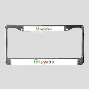 Grayson Balloons License Plate Frame