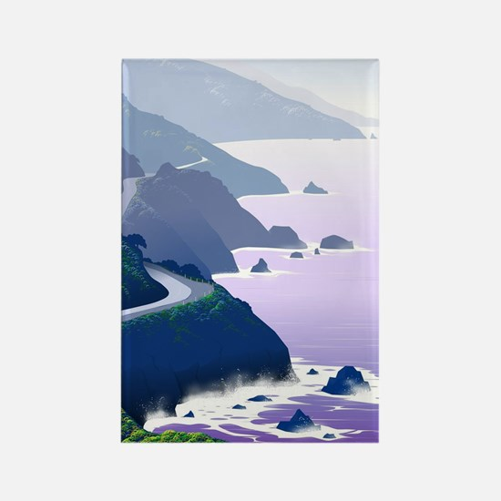 Cute Big sur california Rectangle Magnet