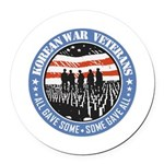 Korean War Veterans Round Car Magnet