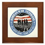 Korean War Veterans Framed Tile