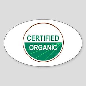 CERTIFIED ORGANIC Oval Sticker