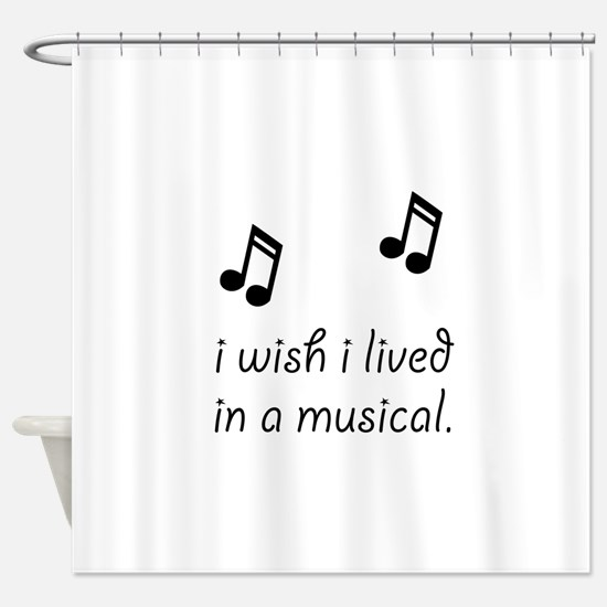 Live In Musical Shower Curtain