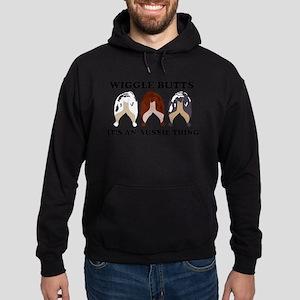 Aussie Wiggle Butts Hoodie (dark)