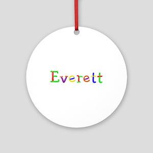 Everett Balloons Round Ornament