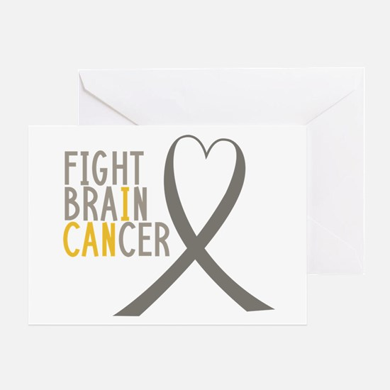 I Fight Brain Cancer Greeting Cards