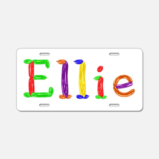 Ellie Balloons Aluminum License Plate