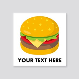 "Emoji Personalized Cheesebu Square Sticker 3"" x 3"""