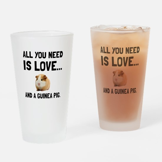 Love And A Guinea Pig Drinking Glass