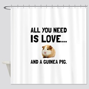Love And A Guinea Pig Shower Curtain