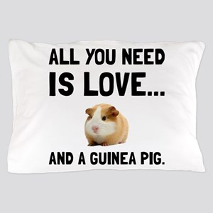 Love And A Guinea Pig Pillow Case