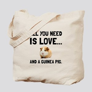 Love And A Guinea Pig Tote Bag