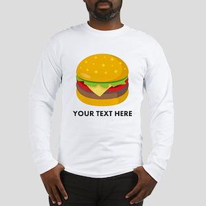 Emoji Personalized Cheeseburge Long Sleeve T-Shirt