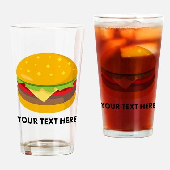 Emoji Personalized Cheeseburger Drinking Glass