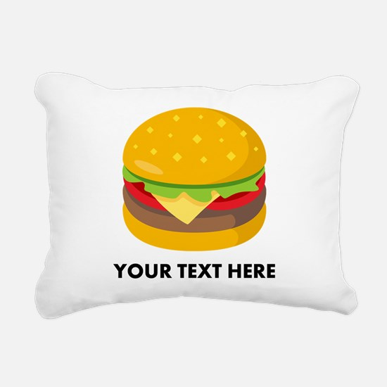 Emoji Personalized Chees Rectangular Canvas Pillow