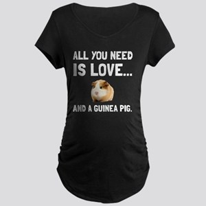 Love And A Guinea Pig Maternity T-Shirt