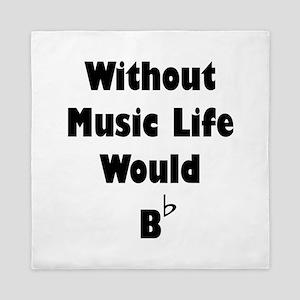 Music B Flat Queen Duvet