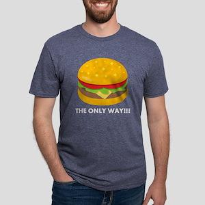 Emoji Cheeseburger The Only Mens Tri-blend T-Shirt