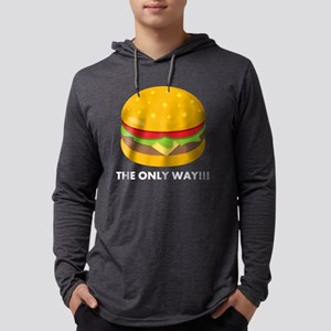Emoji Cheeseburger The Only Way Mens Hooded Shirt
