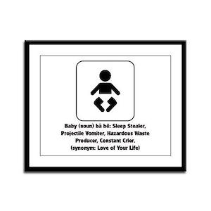 Baby Definition Framed Panel Print