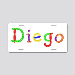 Diego Balloons Aluminum License Plate
