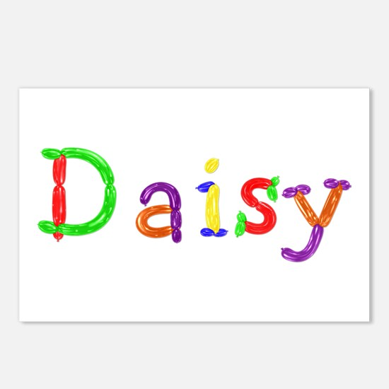 Daisy Balloons Postcards 8 Pack