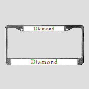 Diamond Balloons License Plate Frame