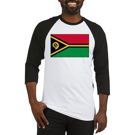 Vanuatu Flag Baseball Jersey