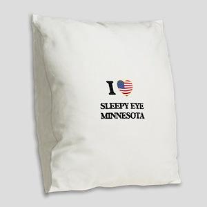 I love Sleepy Eye Minnesota Burlap Throw Pillow