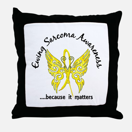 Ewing Sarcoma Butterfly 6.1 Throw Pillow