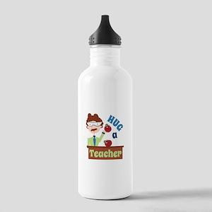 Hug A Teacher Water Bottle