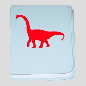 Brachiosaurus Silhouette (Red) baby blanket