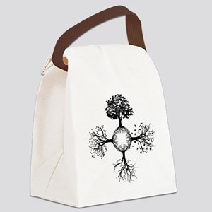 4 Seasons Ink Canvas Lunch Bag