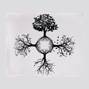 4 Seasons Ink Throw Blanket