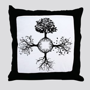 4 Seasons Ink Throw Pillow