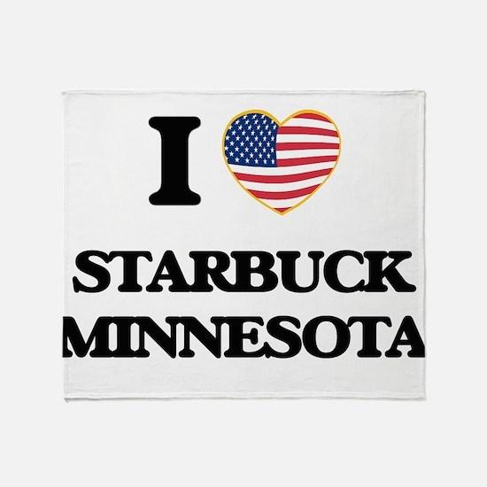 I love Starbuck Minnesota Throw Blanket