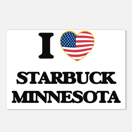 I love Starbuck Minnesota Postcards (Package of 8)